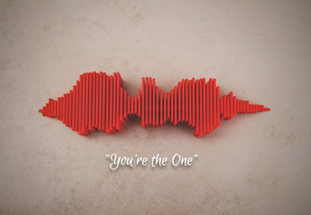 3D-printed-Youre-the-one-sound-wave-by-Jono-Burgers-found-on-Pinshape