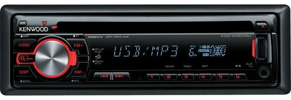Car audio System del coche, modelo Kenwood KDC-W4044UA.