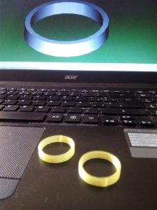 Primeras piezas impresas en 3D.