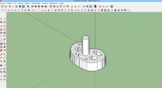 Diseño del tirador en 3D con Sketchup.